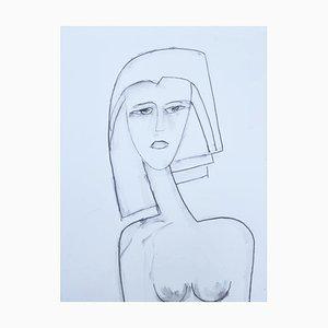 André Ferrand, Retrato 4, 2011, Lápiz a punta seca sobre papel