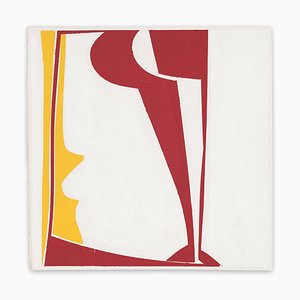 Joanne Freeman, Covers 13-Red Yellow A, 2014, Gouache & Handmade Paper
