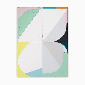 Jo Hummel, Buzz, 2020, Acryl und Emulsion auf Aquarellpapier und Ply