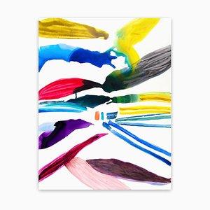 Laura Newman, Birds, 2012, olio e acrilico su tela