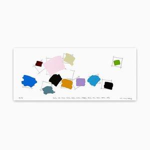 Kyong Lee, escritura en color 001, 2017, lápiz y acrílico sobre papel Fabriano-Pittura