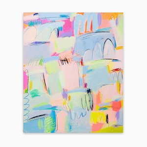Darae Jeon, Impression, 2020, Acrylic & Oil Pastel on Canvas