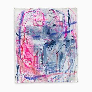 Macha Poynder, Everything Happens Only Once, 2020, acrilico e pastello su tela