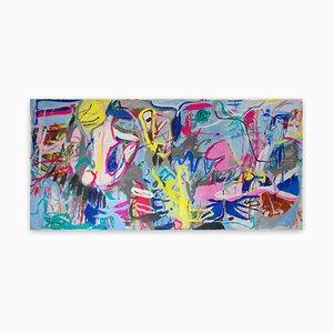 Macha Poynder, The Eye, 2015, Acrylic & Collage on Canvas