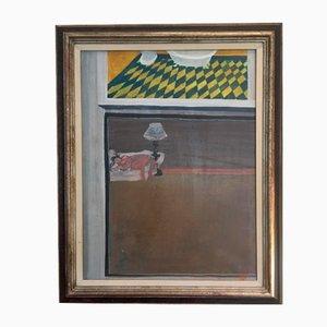 Gérard Tisserand, Le repos, 1965, óleo sobre lienzo, enmarcado