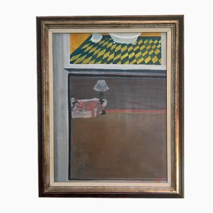 Gérard Tisserand, Le repos, 1965, Olio su tela, Incorniciato