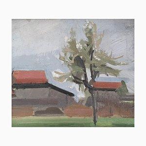 René Guinand, Paysage, 1935, Huile sur Toile, Encadrée