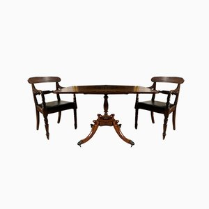Antiker Tisch aus Palisander & Mahagoni mit kippbarer Tischplatte
