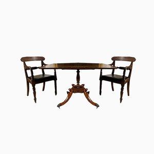 Tavolo antico in palissandro e mogano