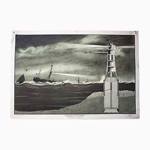 Leuchtturm Lehrtafel von R. Oeffinger für Der praktische Schulmann, 1929