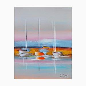 Eric Munsch, Le rivage d'or, 2021, Öl auf Leinwand