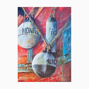 Fabien Renault, Honfleur, 2021, Acrylic on Canvas