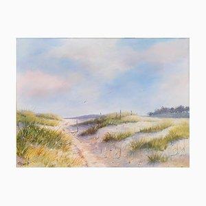 Fabien Renault, Dans les dunes, 2021, acrílico sobre lienzo