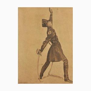 Ferdinand Hodler, hoja de estudio, 1908