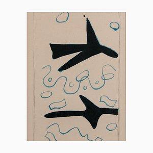 Georges Braque, Due uccelli, 1963, Litografia originale