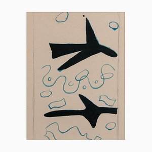 Georges Braque, Zwei Vögel, 1963, Original Lithographie