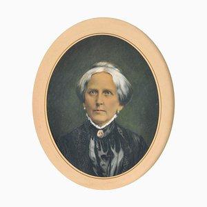 Portrait de Sophie von Gross (1831 - 1898), Photographie avec Reflets de Gouache, Encadré
