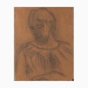Ferdinand Hodler, Study After Savoyerin's Bildnis einer Unbekannten, 1880s
