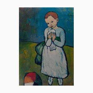 Pablo Picasso, Póster, L`Enfant au Pigeon, 1901, Londres, National Gallery, Reimpresión 1966