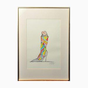 Ted Scapa (Amsterdam, 1931), Obra sobre papel, enmarcada