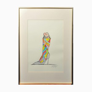 Ted Scapa (Amsterdam, 1931), Work on Paper, Framed