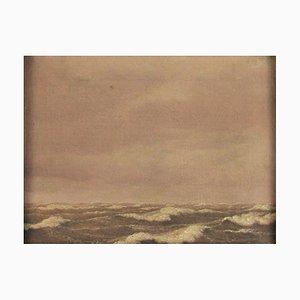 Friedrich Breller (1804 - 1878), Blick auf das Meer, Öl auf Leinwand, gerahmt