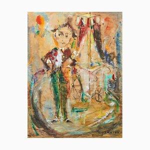Ernest Salvado (1920-1985), Tecnica mista e collage, Incorniciato