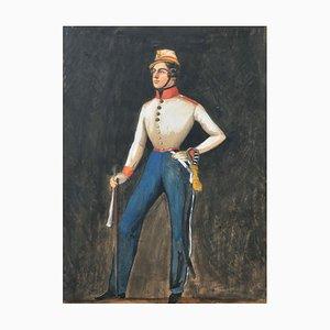 Alfred Gabriel Baron von Gross als Kadett, Gouache auf Papier, 1840er, gerahmt