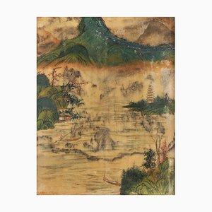Chinesische Malerei auf Alabaster, spätes 19. Jh