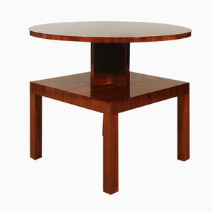 French Art Deco Cubist Side Table, 1930s