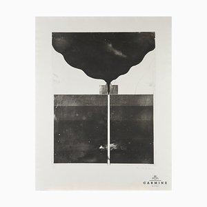 Alfred Hofkunst (1942-2004), Vulkan, Druck, 1. Preisträger der Biennale von Rio de Janeiro, 17/33, 1971