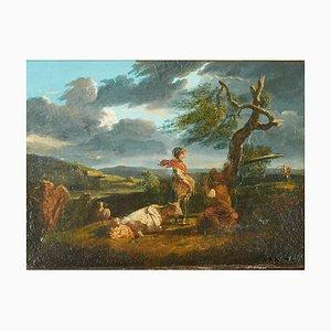 German School Painting, Late 18th Century, Framed