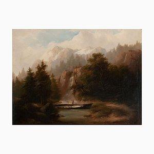 J. Gärtner XV, Paysage de Montagne avec Rivière, Tyrol, 19ème Siècle, Encadré