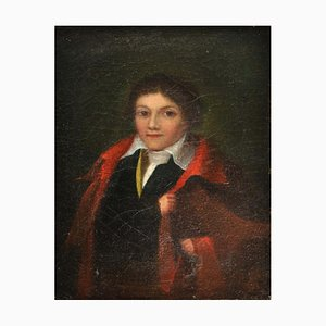 Portrait of a Young Man, France, 1825-30, Oil Painting, Framed