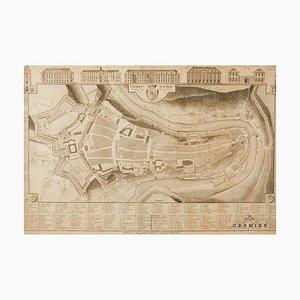 City Map of Bern, 1790s, Framed