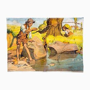 Fischlein Märchen Illustration von O. R. Bossert für A. Pichlers Witwe & Sohn, 1910