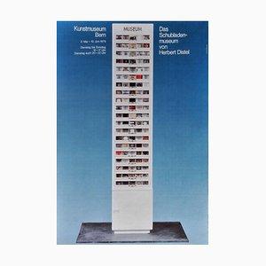 Das Schubladenmuseum Herbert Distel, Kunstmuseum Bern Plakat, 1979