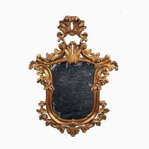 Bougeoir Miroir avec Cadre en Plaqué Or, Italie, Fin du 18ème Siècle