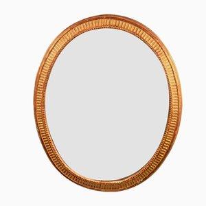 Louis Seize Oval Mirror, France, 1850s