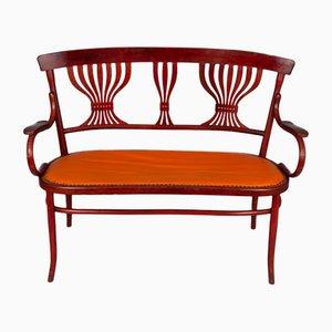 Juego de asiento, grifo y sillas de bistró de Fischel, Vienna, años 20