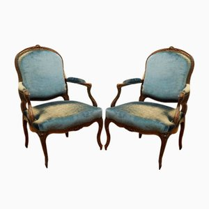 Louis XV Armchairs, France, 1740s, Set of 2