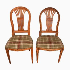 Louis Seize Side Chairs, 18th/19th Century, Set of 2
