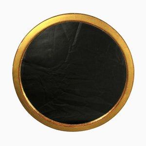 Runder Spiegel mit Goldrahmen, Spätes 20. Jh