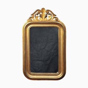 Louis Philippe Gold Leaf Mirror with Original Glass & Back, France, 1850s