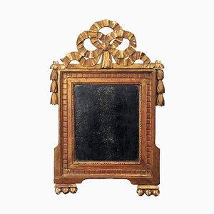 Kleiner Directoire Spiegel in Gold, Frankreich, 1800er