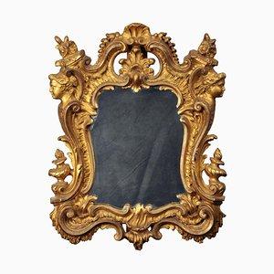 Miroir Rococo Florentin Doré à la Feuille, Italie, 18ème Siècle