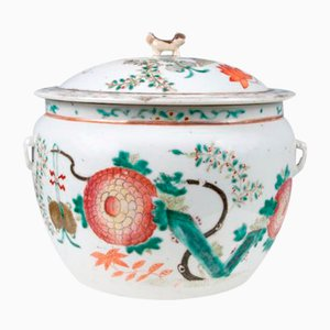 Terrina china de porcelana de exportación, siglo XIX