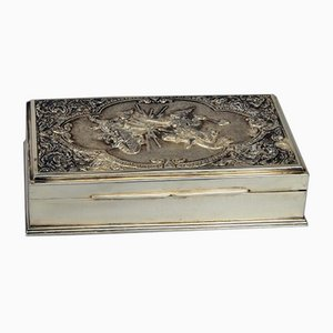 Tabaquera de plata 925 y madera tropical, Tailandia, finales del siglo XIX