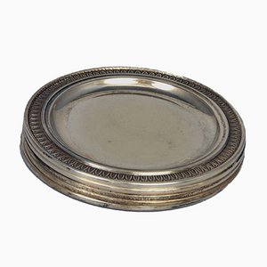 Silver Coasters, 1800s, Set of 5