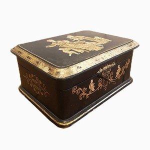 Napoléon III Handbemalter Schmuckkasten, 1860er